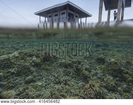 Kadidiri, Indonesia - August 19, 2017: View Of Wonderful Reef In Togian Islands