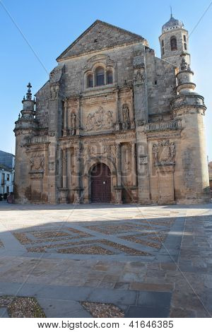 The Chapel of the Savior on the Vazquez de Molina Square in Ubeda, Spain