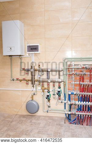 New Autonomous Heating System, Water Heating In The House, Plumbing Installation, During Renovation