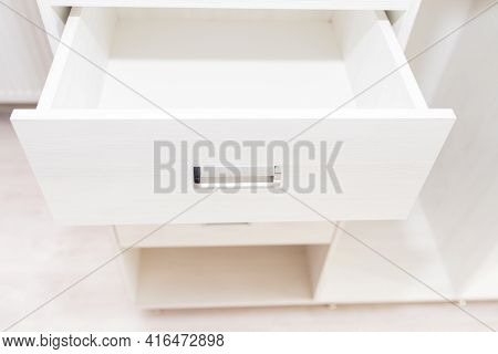 Cabinet Furniture, Open Chest Of Drawers For Clothes, Things, Light Color