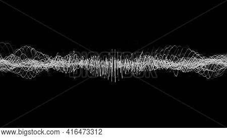 Spiral Of Moving Waves. Animation. Electronic Spiral Of Pulsating And Swirling Waves. Spiral Of Curv