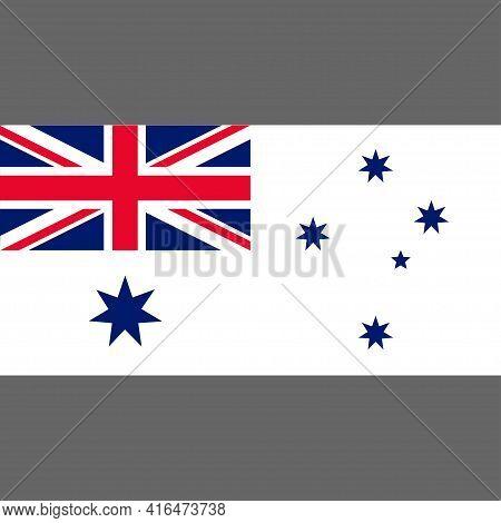 Naval Ensign Of Australia. Digital Reproduction. Vector.