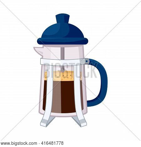 Isolated Object Of Teapot And Coffee Symbol. Set Of Teapot And Kitchen Stock Vector Illustration.