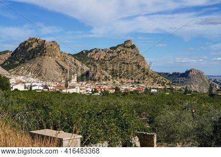 Landscape View Of The Village Ricote In The Valley Of Ricote, Murcia Region In Spain