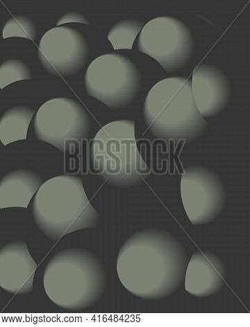 Background.gray And White Volumetric Balloons. Gray Visually Volumetric Balls.a Collection Of Metal