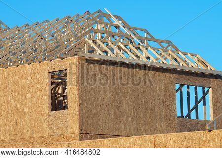 The Rafters Of The New Plywood House