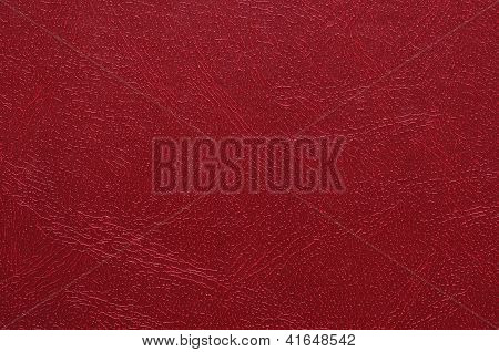 High resolution photo of red artificial leather. poster