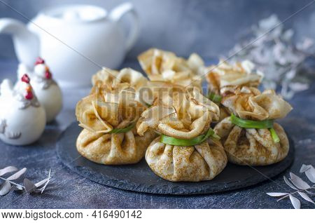 Pancakes With A Filling For Lunch Or Breakfast