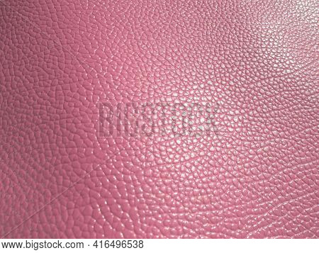 Pink Leather. Material For Fashion Accessories, For Sewing Leather And Suede Products, Furniture Uph