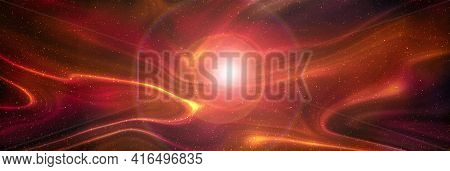 Planets And Galaxy, Science Fiction Wallpaper. Beauty Of Deep Space. Billions Of Galaxies In The Uni