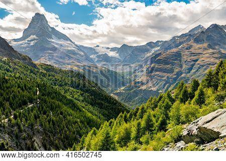 Swiss Alps With The Matterhorn Near Zermatt