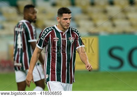 Rio, Brazil - April 11, 2021: Nino Player In Match Between Flamengo V Nova Iguacu By Carioca Champio