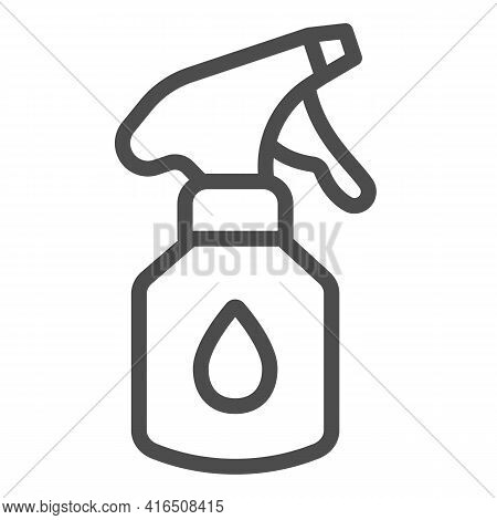 Aerosol With Detergent Line Icon, Car Washing Concept, Cleaning Products Sign On White Background, C