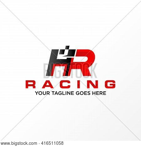 Letter Hr Logo Free Vector. Speed Abstrct Design Concept. Can Be Used As A Symbol Related To Racing