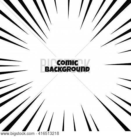 Comic Zoom Rays Focus Lines Background Design