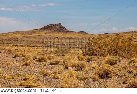 Scenic Early Spring Landscape With The View Of Vulcan Volcano In Albuquerque, New Mexico