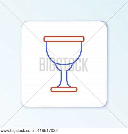 Line Holy Grail Or Chalice Icon Isolated On White Background. Christian Chalice. Christianity Icon.