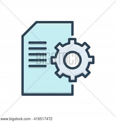 Color Illustration Icon For Contents-management Contents Management Document Cms Database Website Te