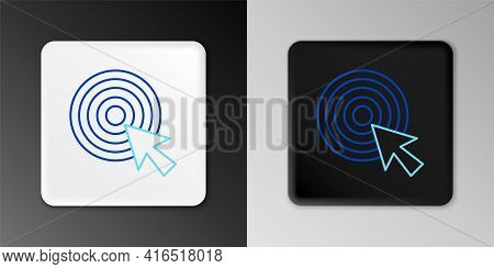 Line Target With Arrow Icon Isolated On Grey Background. Dart Board Sign. Archery Board Icon. Dartbo
