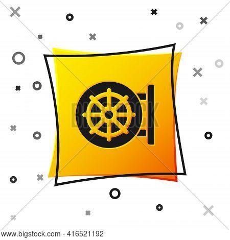 Black Dharma Wheel Icon Isolated On White Background. Buddhism Religion Sign. Dharmachakra Symbol. Y