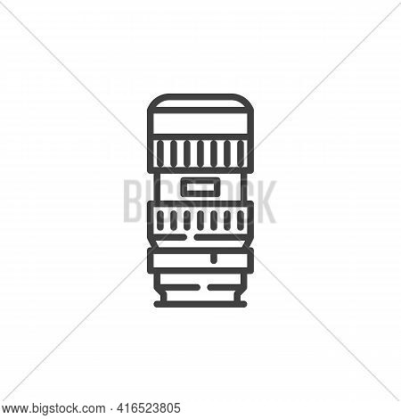 Camera Photo Lens Line Icon. Linear Style Sign For Mobile Concept And Web Design. Camera Lens Outlin
