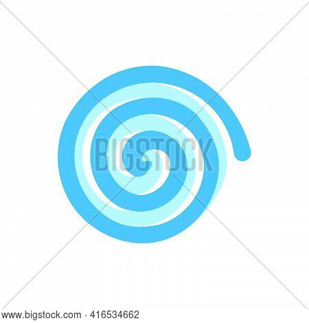 Whirlpool Icon In Flat Style On White Background.vector Illustration.