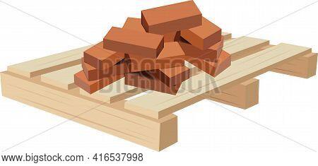 Terracotta Bricks For Construction Terracotta Bricks With Wooden Pallet For Transport
