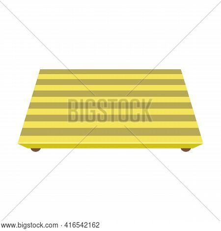 Tray For Food Vector Cartoon Icon. Vector Illustration Tray For Food On White Background. Isolated C