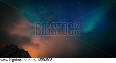 Northern lights in Norway Aurora sky