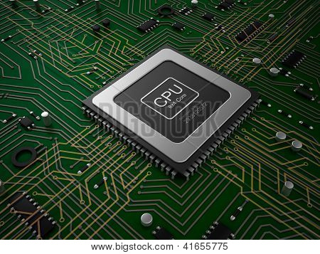 Quad core CPU on motherboard