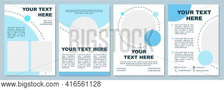 Creative Business Brochure Template. Flyer, Booklet, Leaflet Print, Cover Design With Copy Space. Bl
