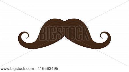 Mustache Icon. Cartoon Moustache. Black Hipster Mustache. Fashion Graphic Symbol. Moustache For Men.