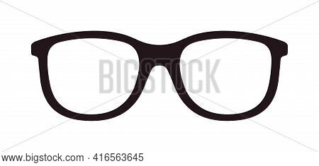 Glasses Icon. Eyeglasses For Nerd. Spectacles For Geek. Glasses For Eye. Frame For Optical Glass. Lo