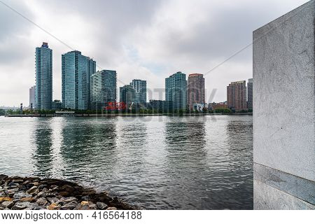 New York City, Usa - June 24, 2018: View Of Hunters Point New Development Area And Pepsi Cola Sign I