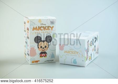 Bangkok, Thailand - April 12, 2021 : Mickey Mouse Family Figure Blind Box Collection, New Version 10