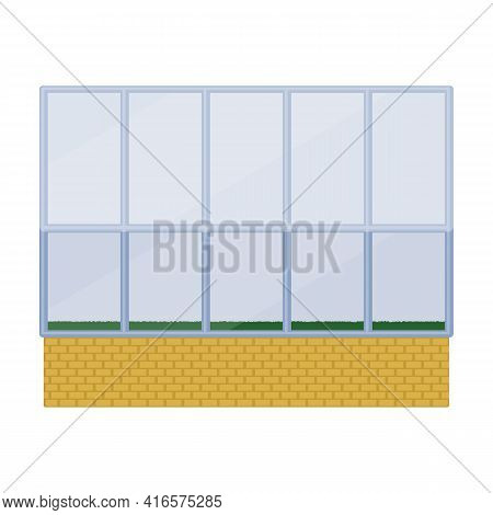 Greenhouse Vector Icon.cartoon Vector Icon Isolated On White Background Greenhouse.