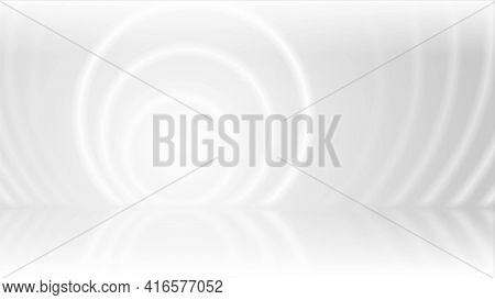 Grey white smooth circles abstract tech background