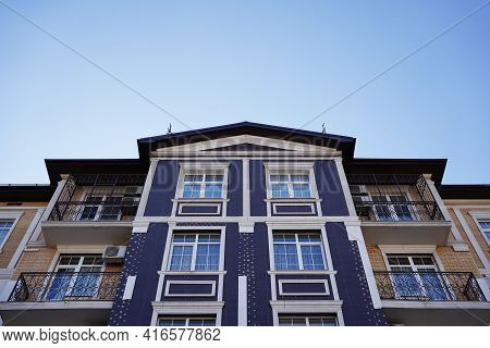 Modern Low-rise, Multi-family House. Affordable Housing For A Young Family