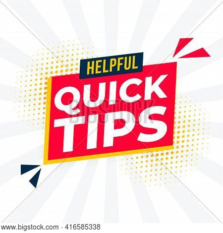 Helpful Quick Tips Background For Support And Hint
