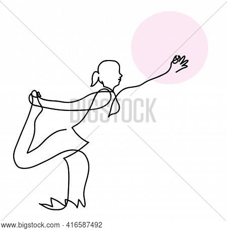 One Line Drawing Of Woman Is Practicing Yoga In Swallow Pose One Continuous Line Drawing Of Female I