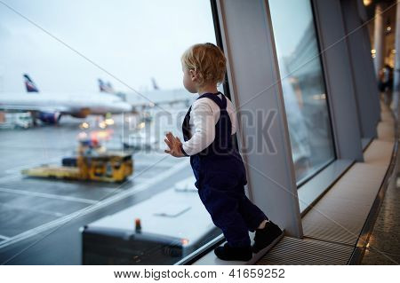 Kid in the airport.