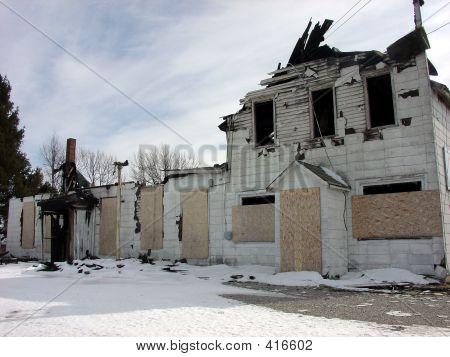 Full Burnt Building