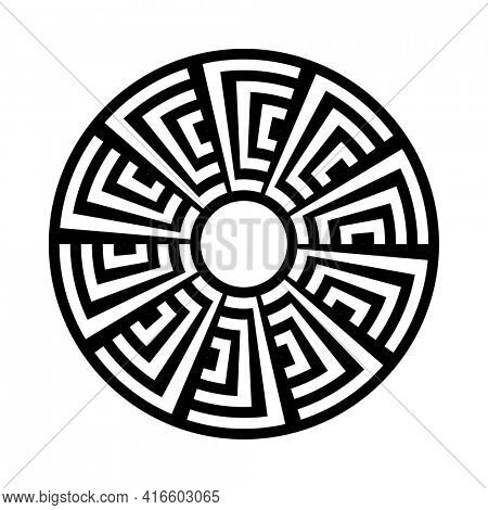Abstract geometric circle circular design element.