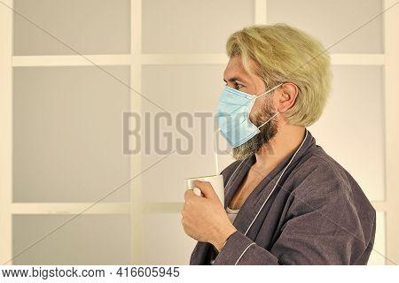Pandemic Quarantine. Anti-virus Mask. Masks To Protect From Virus. Man Wears Mask To Protect From Vi