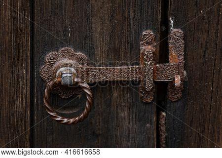 Old Vintage Metal Garden Gate Latch Lock
