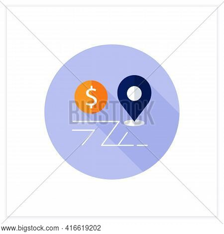 Assets Location Flat Icon. Investments Distribution By Savings Vehicles.tax Accounts, Tax Deferred A