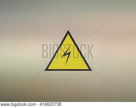 Triangular Yellow And Black Flashover Warning Sticker