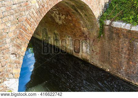 World War Ii Taunton Stop Line, Canal Bridge With Refilled Demolition Chambers. Taunton And Bridgewa