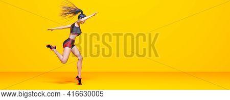 Woman Athlete Runs.