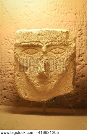 Istanbul, Turkey - January 27, 2021: Ancient Historical Artifacts In Istanbul Archaeological Museums
